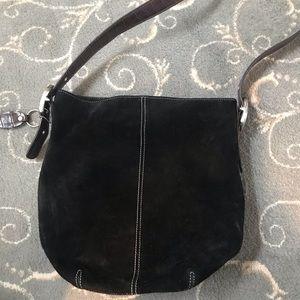 Tignanello dark brown suede hobo bag